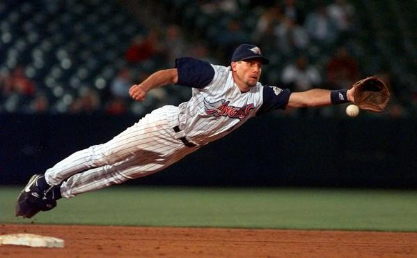 Gary DiSarcina, shown playing for the Angels in 1998, is leaving his post as special assistant to Angels GM Jerry Dipoto to join the Boston Red Sox organization as manager of its triple-A team in Rhode Island.