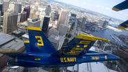 The Navy's Blue Angels precision flying team announced Tuesday that it will perform in the skies over Baltimore for the finale of the War of 1812 commemoration in the fall of 2014.