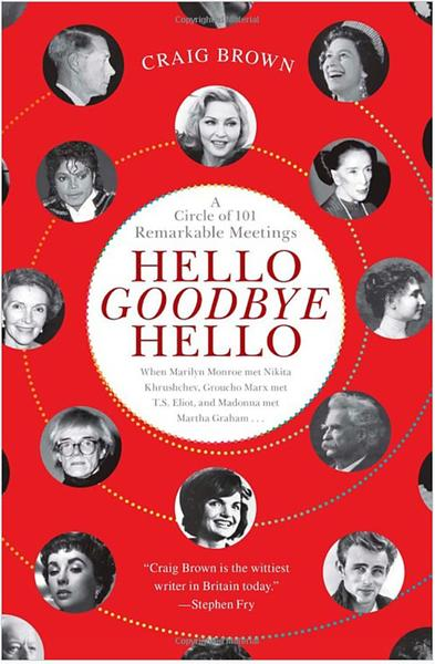 "If you're stuck in an armchair, ""Hello Goodbye Hello: A Circle of 101 Remarkable Meetings,"" by Craig Brown, can reproduce the serendipity travelers thrive on. This odd volume, researched and written with breathtaking precision and abundant British wit, recounts a chain of weird encounters among famous people. <a class=""taxInlineTagLink"" id=""PEHST002261"" title=""Frank Lloyd Wright"" href=""/topic/arts-culture/architecture/frank-lloyd-wright-PEHST002261.topic"">Frank Lloyd Wright</a> meets <a class=""taxInlineTagLink"" id=""PECLB003245"" title=""Marilyn Monroe"" href=""/topic/entertainment/marilyn-monroe-PECLB003245.topic"">Marilyn Monroe</a>. Igor Stravinsky meets Walt Disney. <a class=""taxInlineTagLink"" id=""PECLB003135"" title=""Groucho Marx"" href=""/topic/entertainment/groucho-marx-PECLB003135.topic"">Groucho Marx</a> meets T.S. Eliot. <a class=""taxInlineTagLink"" id=""PECLB002040"" title=""Martha Graham"" href=""/topic/entertainment/martha-graham-PECLB002040.topic"">Martha Graham</a> meets Madonna. Oh, and each chapter is 1,001 words. Brown is a British critic, satirist and, it would appear, obsessive. Vanity Fair called the book a ""feat of narrative engineering.""<br><br>  Info: $26.95, <a href=""http://www.simonandshuster.com"">http://www.simonandshuster.com</a><br><br>  —C.R."