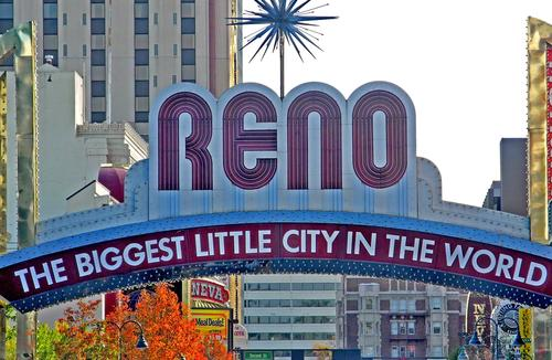 Reno's well-known welcome sign.