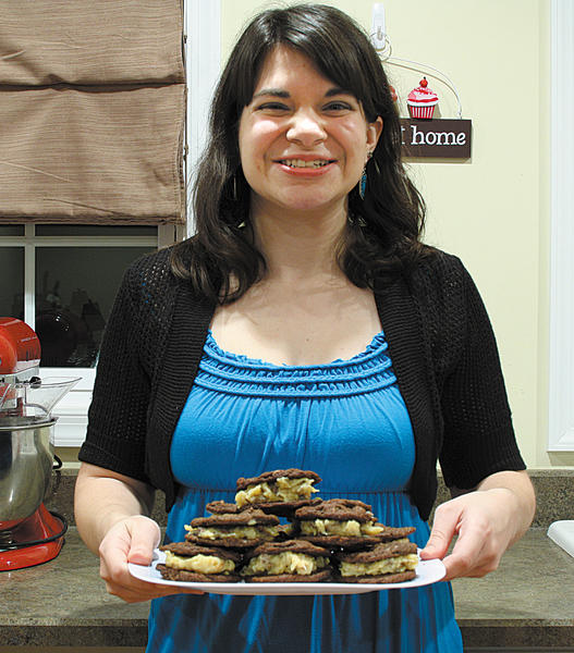 Carla Cardello of McConnellsburg, Pa., is the winner of the The Herald-Mails 20th Cookie Contest with her German Chocolate Cake Sandwich Cookies. She also won The 2012 Cupcake Contest, and used the prize money to put towards the purchase of a red stand mixer, which can be seen at left.