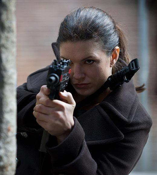 "Emily Blunt - ""Looper""<br> Gina Carano - ""Haywire"" (pictured)<br> Judi Dench - ""Skyfall""<br> Anne Hathaway - ""The Dark Knight Rises""<br> Jennifer Lawrence - ""The Hunger Games"""