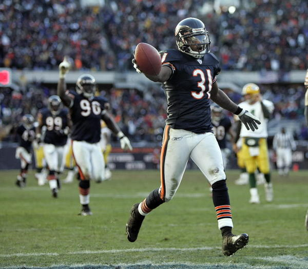 One of former Bear Nathan Vasher's proudest moments in the Green Bay rivalry was returning a Brett Favre interception for a touchdown.