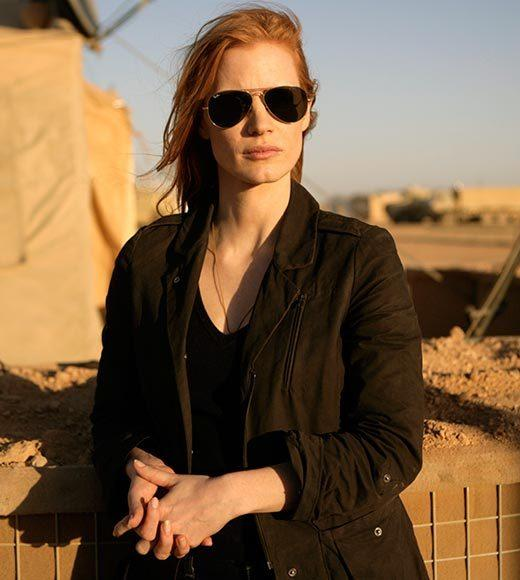 "Jessica Chastain - ""Zero Dark Thirty"" (pictured)<br> Marion Cotillard - ""Rust and Bone""<br> Jennifer Lawrence - ""Silver Linings Playbook""<br> Emmanuelle Riva - ""Amour""<br> Quvenzhané Wallis - ""Beasts of the Southern Wild""<br> Naomi Watts - ""The Impossible"""