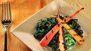 Tuscan kale salad with grilled carrots