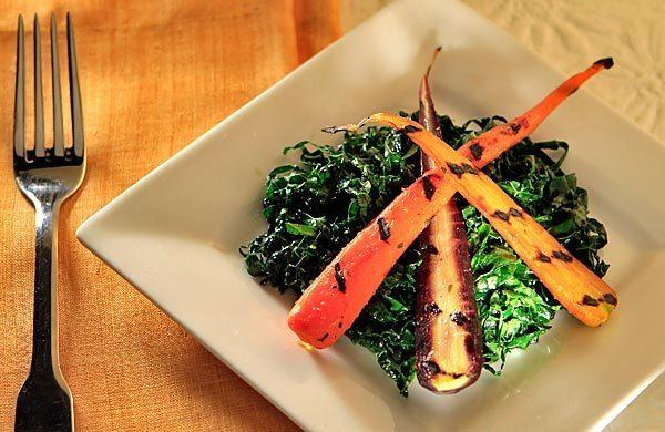 Little Dom's Tuscan kale salad with grilled heirloom carrots.