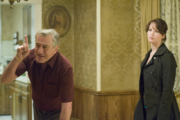 Robert De Niro and Jennifer Lawrence in 'The Silver Linings Playbook.""