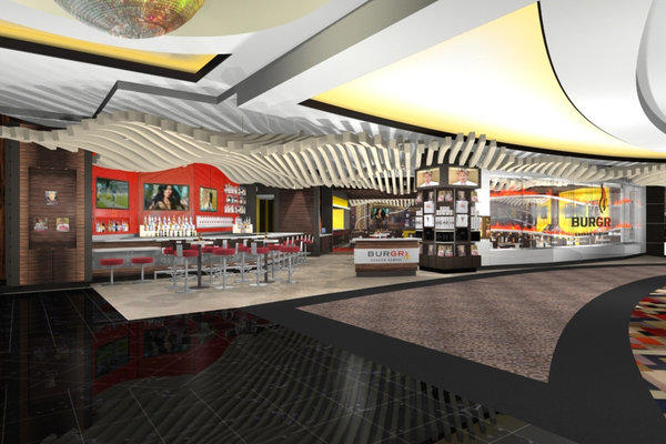 An artist's rendering of Gordon Ramsay's burger restaurant, BurGR, set to open Dec. 22 at Planet Hollywood in Las Vegas.