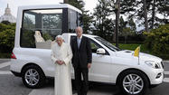 Pope Benedict XVI gets new Popemobile from Mercedes-Benz