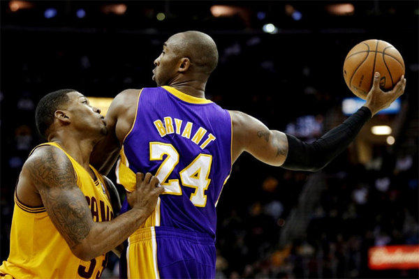 Kobe Bryant is embarrassed with the way the Lakers played against the Cavaliers on Tuesday.