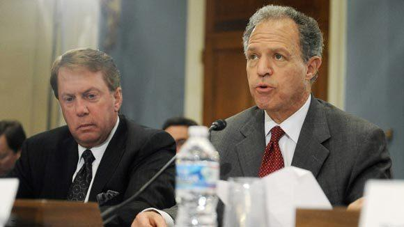 Chicago Board Options Exchange CEO William Brodsky, right, testifes about the MF Global bankruptcy to a House committee in 2011.