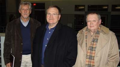 Consultants participating in downtown Petoskeys recent movie theater feasibility study include (from left) Bill Finnicum, Bob Donohue and Tom Gerdom.