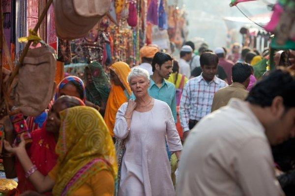 "Judi Dench in ""The Best Exotic Marigold Hotel."""