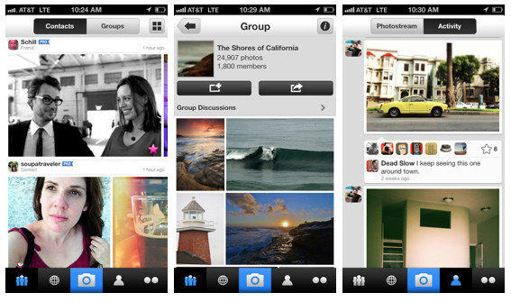 A few screenshots of the updated Flickr iPhone app.