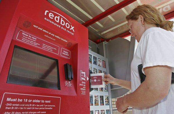 A Redbox rental kiosk in Utah