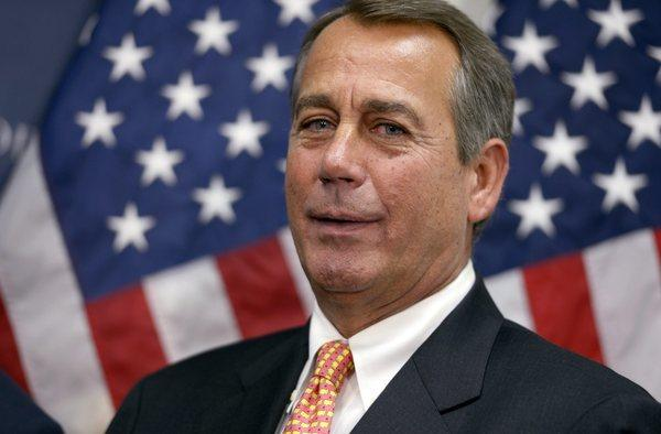 House Speaker John Boehner at a news conference after a meeting of Republicans in Washington.
