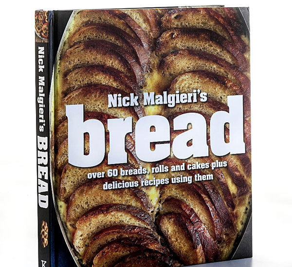 <b>'Nick Malgieri's Bread' Nick Malgieri</b><br> Baking class is open. Starting simply with a one-step, no-knead loaf and progressing through the complex (brioche and baguettes), veteran cookbook author Nick Malgieri instructs in a sure manner that inspires confidence. The best chapter, for our money, teaches how to make better versions of everyday supermarket rolls like kaisers, hamburger and hot dog buns, and English muffins. And in a clever which-comes-first construct, recipes that utilize your finished baked goods in soups, salads, sandwiches and such entice you to make the breads themselves.<br> <b>Kyle, $29.95</b>