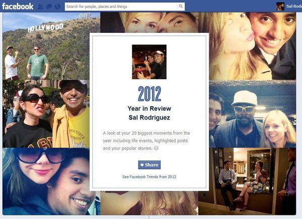 Facebook has released a tool that will show you your top 20 highlights of 2012.