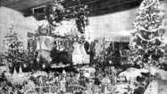 La Cañada History: Christmas village and train display at the Wagners'