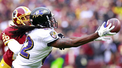 Ravens receiver Torrey Smith has