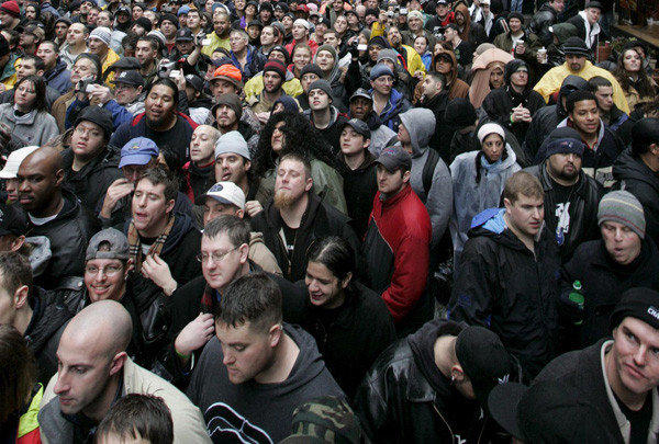 Crowds such as this one in New York City shows the diversity of the U.S. population.