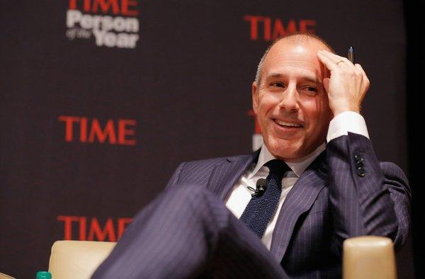Matt Lauer at a Time magazine Person of the Year panel Nov. 13 in New York.