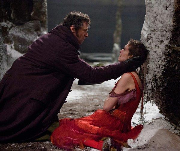 "Hugh Jackman as Jean Valjean and Anne Hathaway as Fantine both earned SAG Awards nominations for ""Les Miserables."""