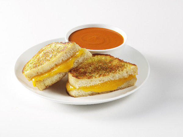 The Classic grilled cheese sandwich from the Melt, a Bay Area grilled cheese mini-chain, which is opening its first Los Angeles location at Sunset and Vine.