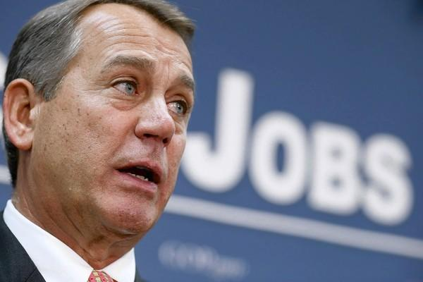 "House Speaker John A. Boehner told reporters, ""The president and I had a pretty frank conversation about just how far apart we are."""