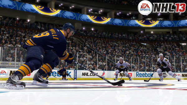 Sabres captain Jason Pominville shot early and often against a Hawks defense missing Nick Leddy and Brent Seabrook and hit the back of the net twice in Buffalo¿s win. Marcus Kruger scored for the second game in a row and Dave Bolland had the other goal for the Blackhawks, who lost for only the second time in six games. RECORD: 18-8-2
