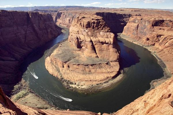 The Colorado River's Horseshoe Bend, in Page, Ariz., shown in 2008. A federal report predicts that by 2060 water from the Colorado River will fall short of demand from the seven states that depend on the river for water.