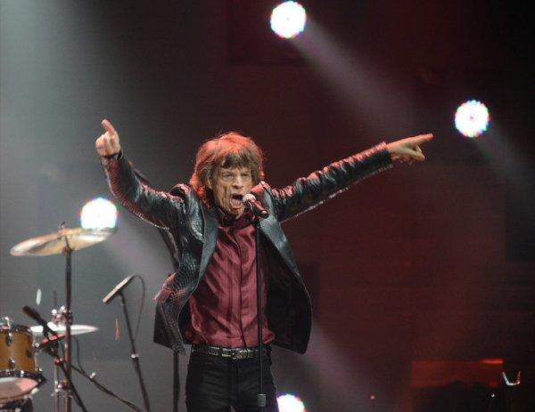 Mick Jagger of the Rolling Stones at the 12-12-12 benefit concert.