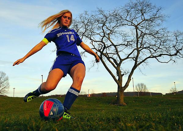Boonsboro senior Emily Cronise is The Herald-Mail's 2012 Washington County Girls Soccer Player of the Year.