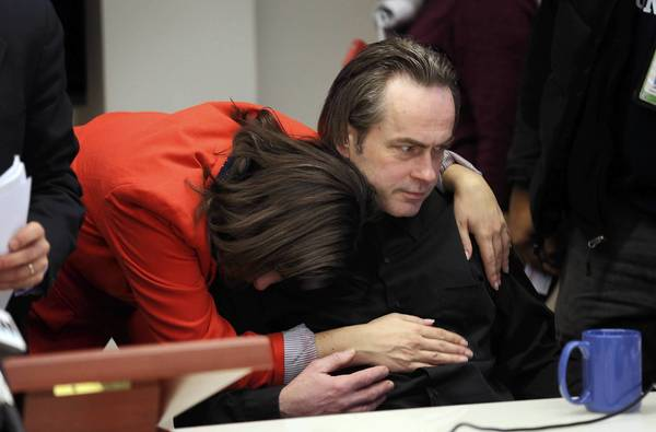 Theresa O'Rourke, a friend of slaying victim Jitka Vesel, and the victim's brother, Alex Vesely, attend a news conference announcing a lawsuit filed on behalf of the victim's family against Armslist LLC. The Brady Center to Prevent Gun Violence filed the lawsuit Wednesday. Vesel was fatally shot last year by a man who allegedly used the website to get a gun.