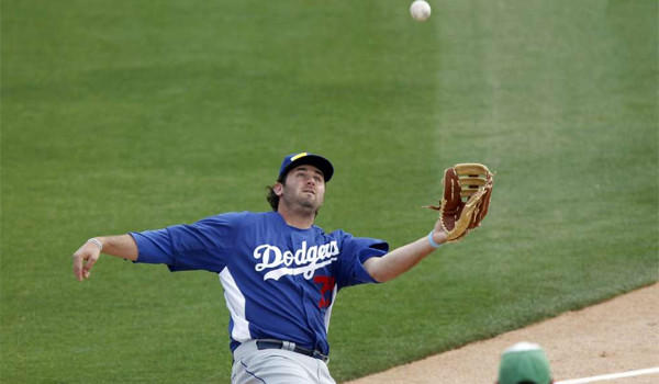 Scott Van Slyke has been designated for assignment by the Dodgers who needed to make room for Skip Schumaker on their 40-man roster.