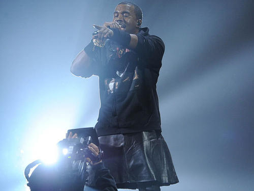 Kanye West performs on Wednesday.