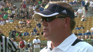 "<span style=""font-size: small;"">Notre Dame football coach Brian Kelly on Thursday was named the winner of the 2012 Eddie Robinson Coach of the Year Award. Kelly last week won the Home Depot Coach of the Year Award.</span>"