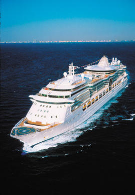 The Royal Caribbean Serenade of the Seas sails from the Port of Miami.