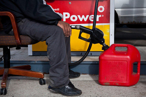 Superstorm Sandy briefly caused a gas shortage on the East Coast in early November, but wholesale prices for fuel plunged overall during the month.