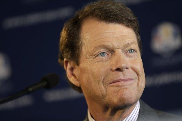 Tom Watson attends a news conference announcing his selection as U.S. Ryder Cup captain.