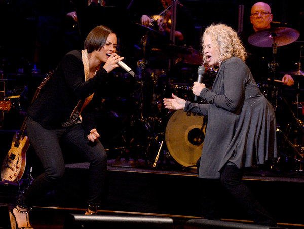 Carole King, right, joined by Alicia Keys at a recent salute in Hollywood to King's music, will receive the Library of Congress' 2013 Gershwin Prize for Popular Song.