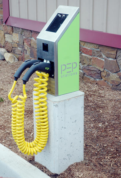 The City of Charlevoix recently installed this electric vehicle charging station as part of improvements to the White Parking Lot, which is located off Clinton Street next to Harbor Health and Fitness.