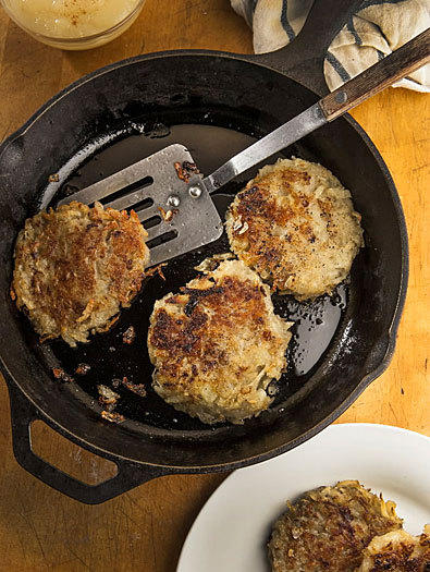 <b>Potato latkes</b><br> <br> Prep: 30 minutes<br>