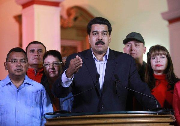 Venezuelan Vice President Nicolas Maduro addresses the nation from Caracas.