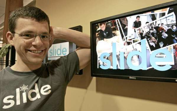 Max Levchin, seen here at his former company Slide, has joined the board of Yahoo.
