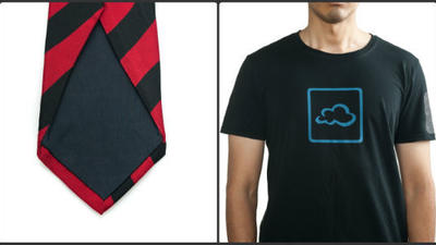 Last-minute gifts: touch-screen-cleaning neckties and T-shirts