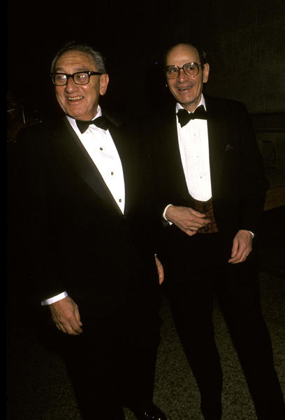 Famed New York Times publisher Arthur Ochs Sulzberger, right, pictured with former Secretary of State Henry Kissinger in 1990, passed away at age 86. Sulzberger oversaw the Times for 34 years, including during its controversial publishing of the Pentagon Papers.