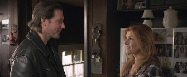 "Edward Burns and Connie Britton in ""The Fitzgerald Family Christmas."""