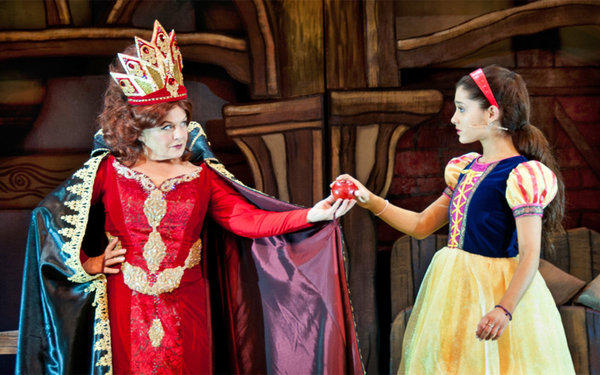 """A Snow White Christmas"" at Pasadena Playhouse stars Ariana Grande, right, and Charlene Tilton."
