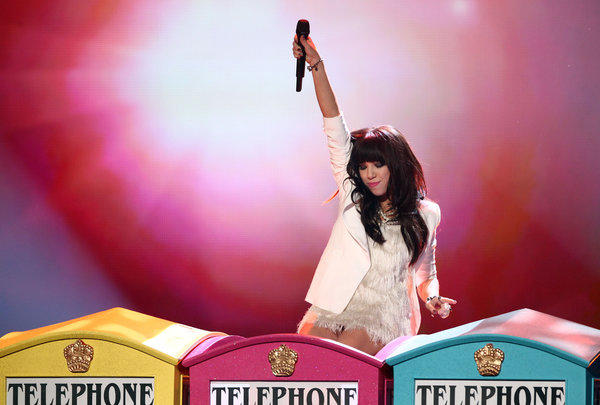"Carly Rae Jepsen performs at the 40th American Music Awards in Los Angeles. Her ""Call Me Maybe"" music video topped Vevo's list of the most-watched music videos of 2012."